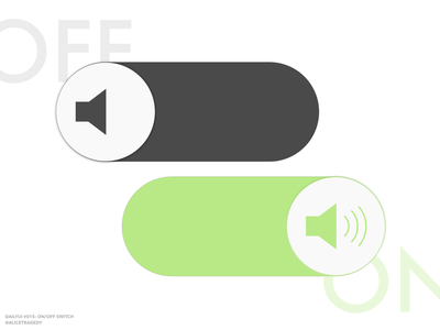 DailyUI 015: On/off switch dailyui015 dailyui 015 vector music toggle on off switch ui elements ui design