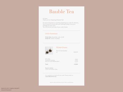 DailyUI 017: Email receipt e-commerce email design ui typography