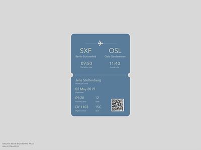 DailyUI 024: Boarding pass flat  design ux typography ui boarding pass