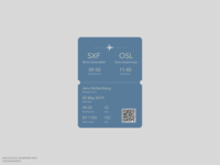 DailyUI 024: Boarding pass