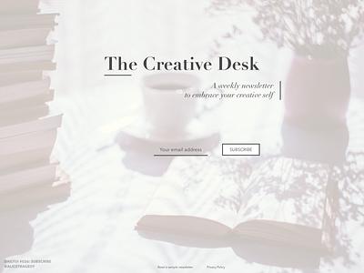 DailyUI 026: Subscribe form design dailyui 026 dailyui026 modern design typography clean