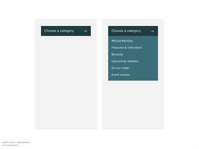 DailyUI 027: Dropdown typography dailyui dailyui027 dailyui 027 clean interface minimalist dropdown ui design