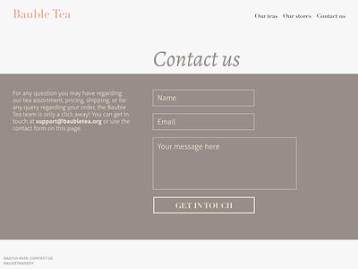 DailyUI 028: Contact us dailyui028 dailyui 028 ui design form design web typography