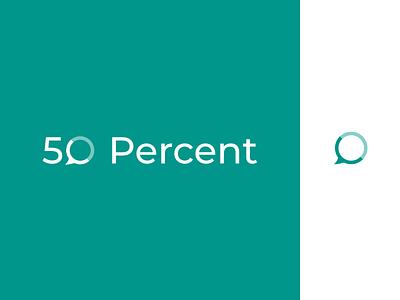 logo design for 50 Percent branding logo