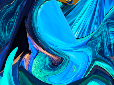 Blue Dimension curves background abstract
