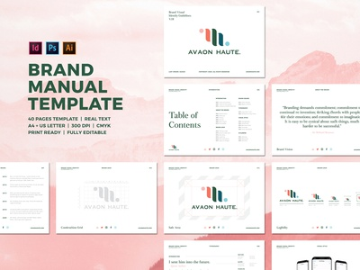 Brand Visual Identity Guidelines illustrator photoshop indesign layout template visual design visual identity visual manual guidelines design process graphic brand branding design logotype logo design logo brand design brand identity