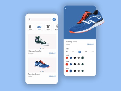 "UI design for a ""Design It Yourself"" online store"