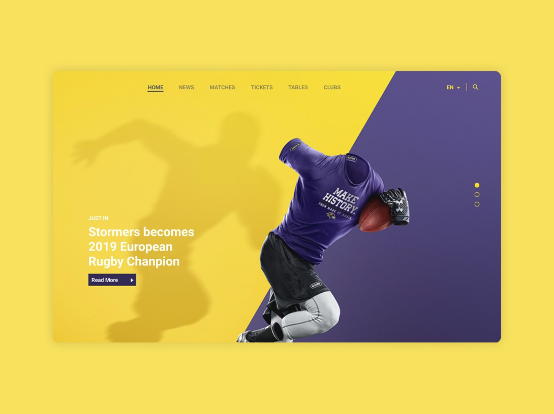 Sports Home Page illustration webdesign ui figma