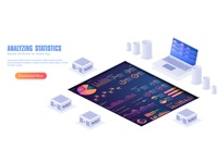 Infographic vector elements.Illustration of data financial graph