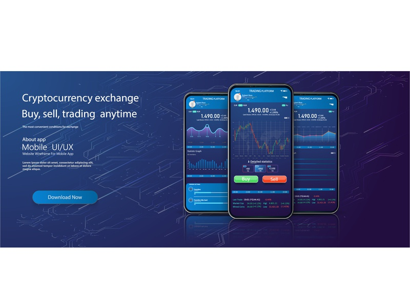 Cryptocurrencies trading, and exchange UI or UX app screen platform analytics analysis activity abstract ios trade chart forex gradient graph fitness app ui design kit dashboard mobile