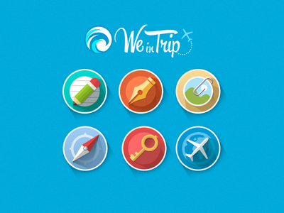Flat Icon for site flat icon weintrip tourism long shadow