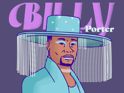 Billy Porter lettering billyporter billyporter poses illustration illustrator