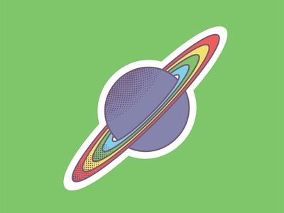 Rainbow planet brand icon illstration illustrator gaypride gay lgbtqia lgbtq planet space