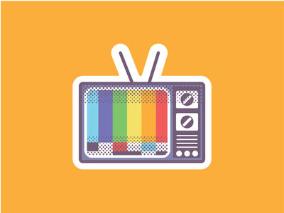 TV POC television tv icon logo vector illustration illustrator
