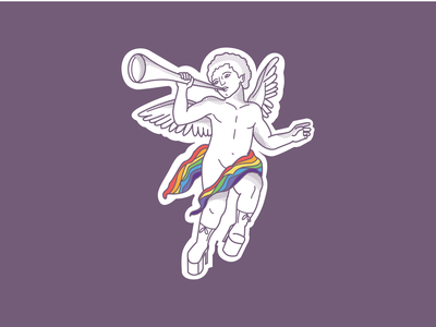Pride Angel branding icon drawing logo illustration gaypride pride angel