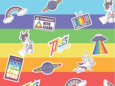 Stickers Poc's Bar stickers sticker design sticker icons icon branding brand design brand vector illustraion
