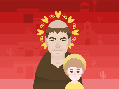 Saint Anthony, the matchmaker charactedesign charachters character mikoko vector brazil pernambuco illustration drawing
