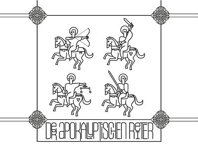 Der Vier Apokalyptischen Reiter charachters characterdesign character design charactedesign icon design branding mikoko vector character logo illustration drawing brazil