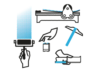 Get to work ui ux logo design icon branding mikoko vector illustration drawing