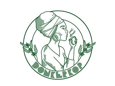Donkerkop Cofeebike african coffee coffee bar brand lettering typography charactedesign logo character icon design branding pernambuco brazil mikoko drawing vector illustration