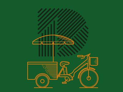 Donkerkop Coffeebike bike logo bike brand typography pernambuco logo icon design branding brazil mikoko drawing vector illustration