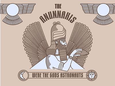 Were the gods astronauts ancient gods anunnakis charachter design branding mikoko brazil brand character logo icon drawing vector illustration