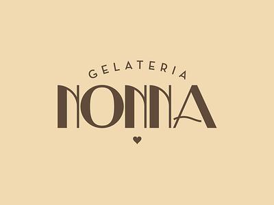 Gelateria Nonna gelato ice cream gelateria letter logo lettering logotypedesign logotype typography design logo branding