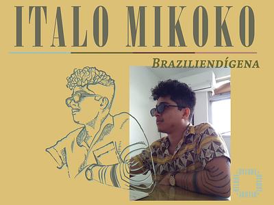 Braziliendigena drawing pernambuco brazil mikoko illustration vector