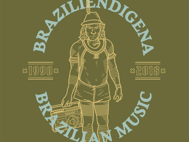 Braziliendigena brand design brazil branding drawing illustration mikoko vector