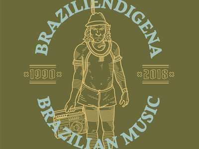 Braziliendigena brand design brazil branding drawing illustration mikoko vector