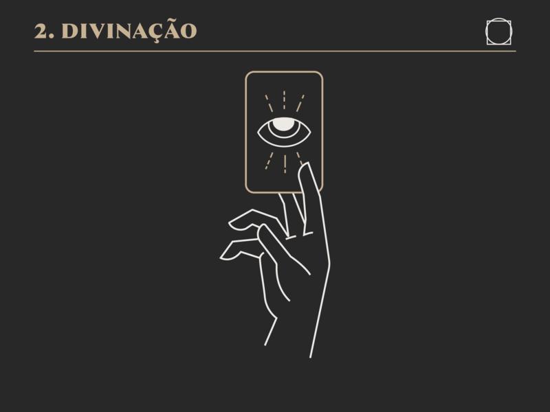 Divination brand design logo branding drawing illustration mikoko vector