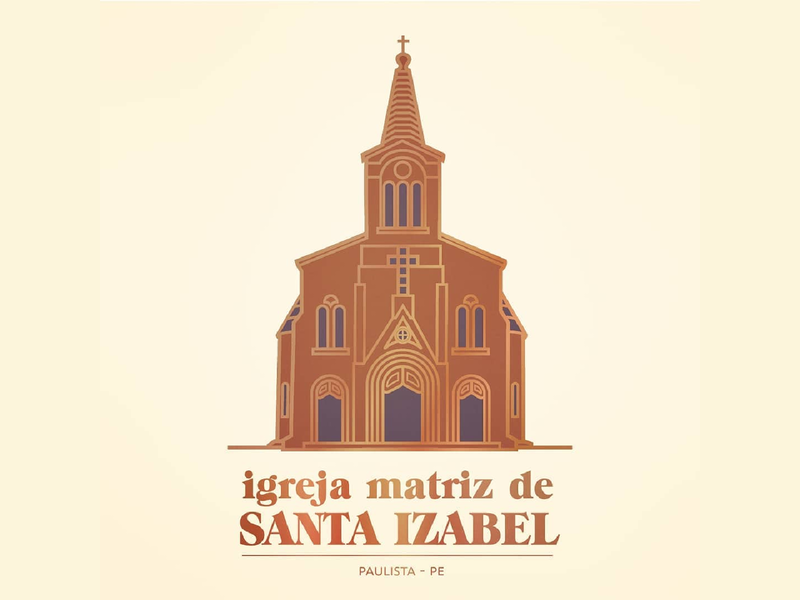 Santa Izabel church logo church branding church logo church design church