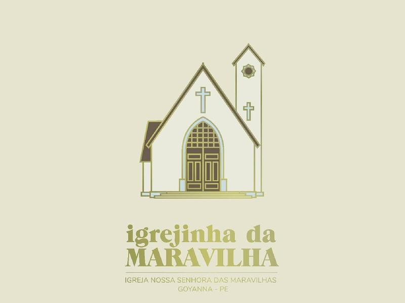Igrejinha da Maravilha illustration illustrator icon logo church design church branding church logo church
