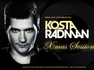 Kosta Radman - Brija Dot Com Xmas Sessions 2013 typography poster flyer design flyer dtp design