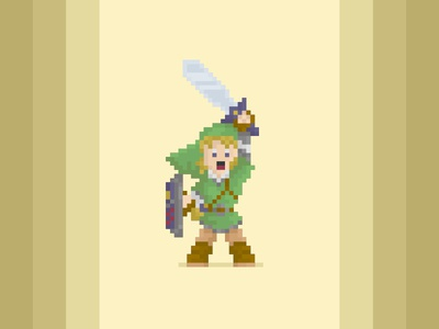 His Name Is Link! the legend of zelda sticker mule zelda pixel link hero art adventure