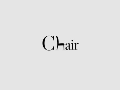 Logotype 01 | Chair