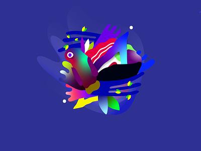 Concept character V2 branding flower flat vector web abstract abstraction flora uiux design illustration ilustrator