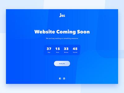 Holding Page Design website design webdesign countdown timer countdown debutshot debut holding page web design ui
