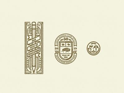 YOE government education logo vintage crest badge