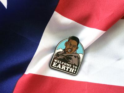 4th of July enamel pin