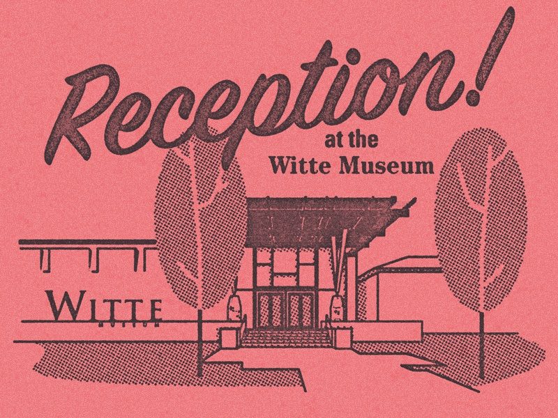 Reception texas vector mid century modern illustration vintage