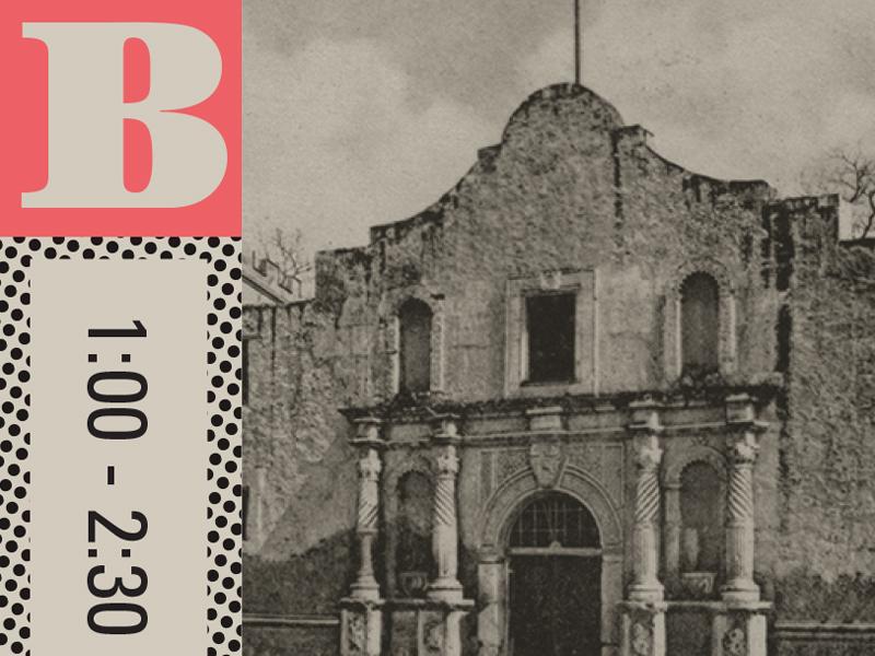Program section alamo typography type texas vintage
