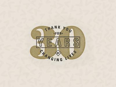 30 Year Volunteer logo lock up typography type vintage