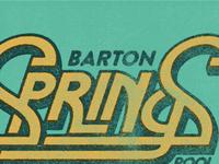 Barton Springs Custom Lettering