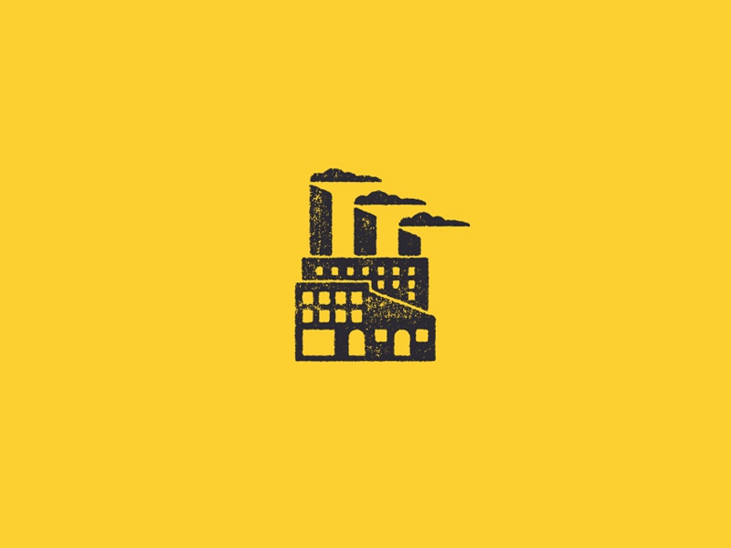 Factory Kids - Icon branding logo design vintage illustration