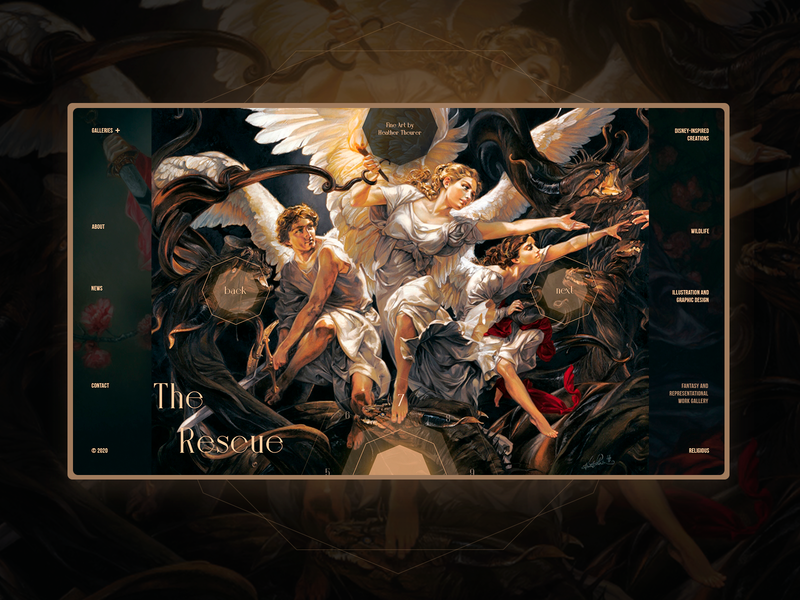 Redesign web gallery  Heather Theurer uidesign interface design landing page ui elements web design webdesign ui  ux web design ui