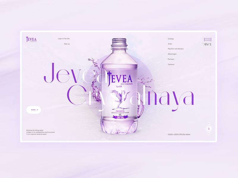 Jevea mineral water website uiux uidesign interface design landing page ui elements web ui  ux jevea mineral water jevea mineral water web design ui