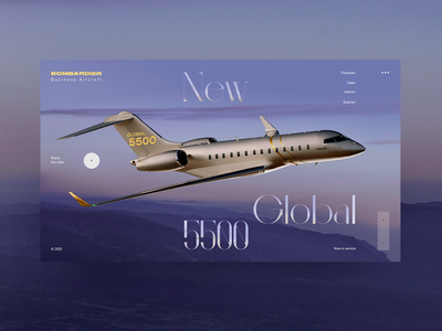 Bombardier Aircraft concept ux uiux one page interface design landing page ui elements webdesign ui  ux web design ui