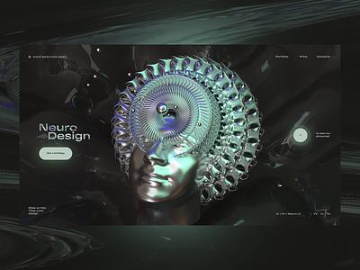 Neuro Design c4d 3d artist 3d art cinema4d ux one page landing page ui elements web design webdesign ui  ux web design ui