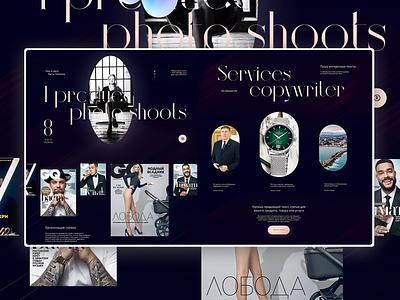 Website of GQ Russia producer Anastasia Chibisova digitaldesign design madeontilda tilda uidesign ui uxui
